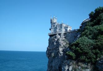Картинка города ласточкино+гнездо+ украина замок