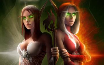 Картинка world+of+warcraft видео+игры девушки глаза