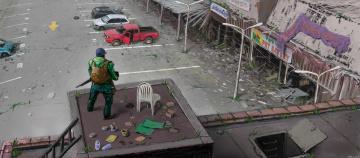 Картинка фэнтези люди разрушения выживший мужчина постапокалипсис запустение будущее