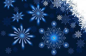 Картинка векторная+графика природа+ nature снежинки фон узоры