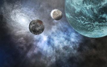 Картинка космос арт галактика звезды вселенная планеты