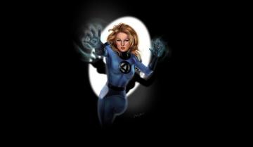 обоя рисованное, комиксы, сила, невидимая, леди, фантастическая, четверка, fantastic, four, фон, костюм, сьюзан, шторм