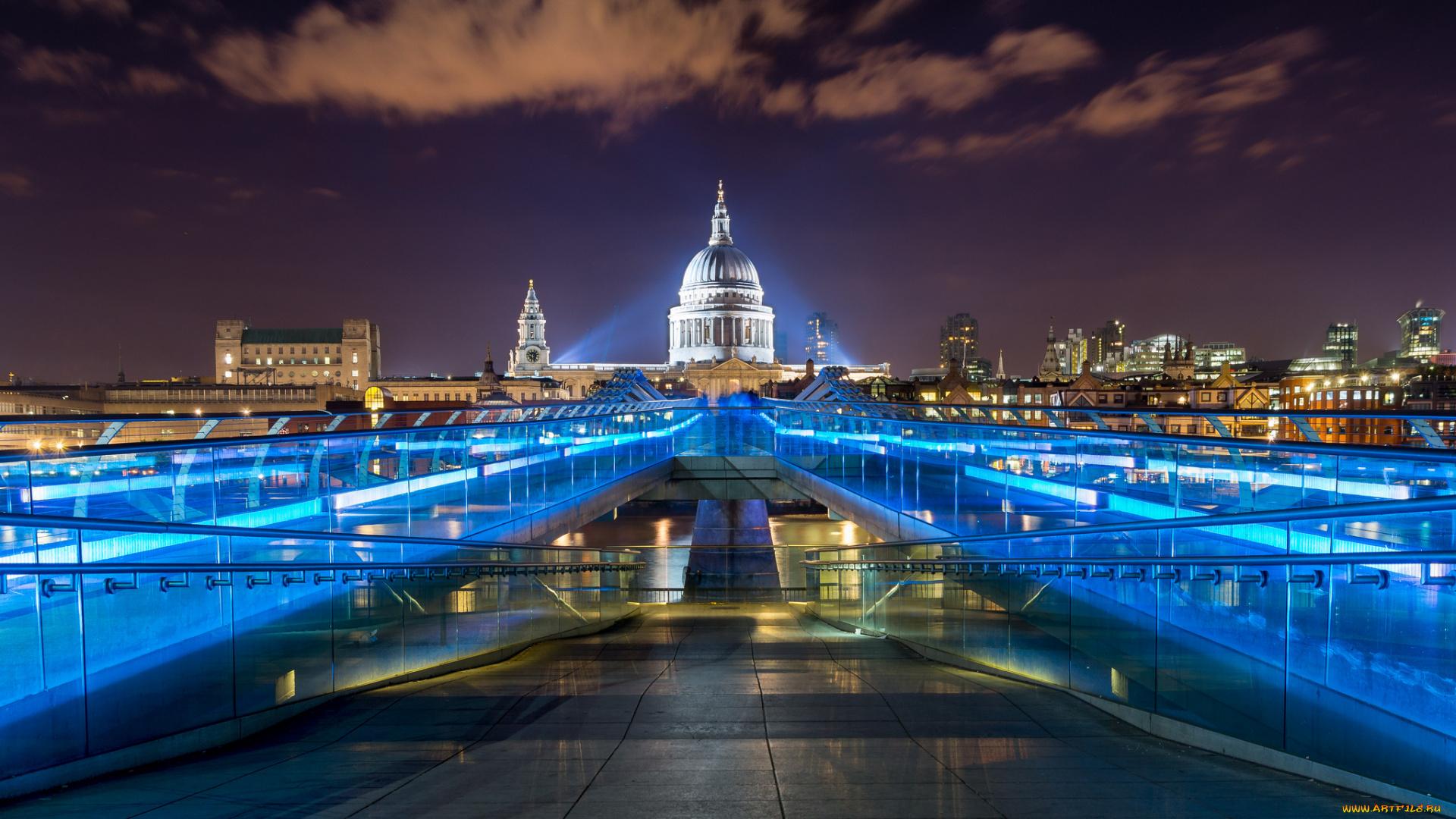 Мост Тысячелетия Лондон страны архитектура без регистрации