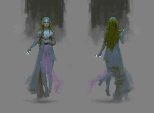 обоя фэнтези, эльфы, взгляд, эльф, девушка