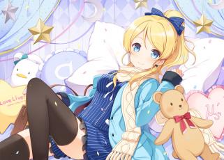 Картинка аниме love+live +school+idol+project фон взгляд девушка