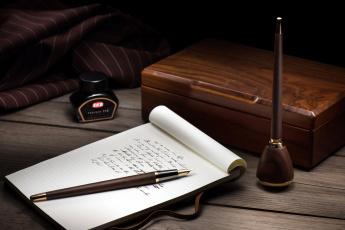 обоя разное, канцелярия,  книги, блокнот, чернила, ручка