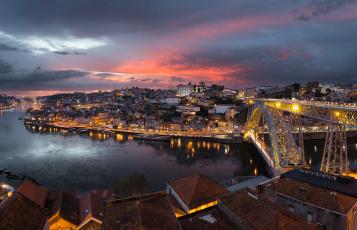 обоя porto de ponte a ponte, города, - панорамы, мост, река