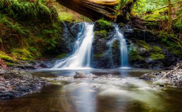 Картинка природа водопады камни поток