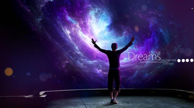 Обои картинки фото разное, компьютерный дизайн, мечта, парень, площадка, космос