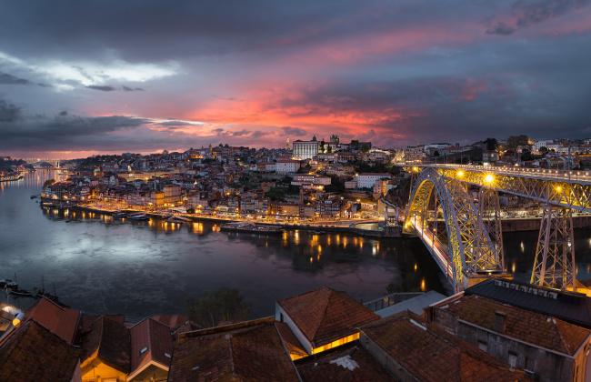 Обои картинки фото porto de ponte a ponte, города, - панорамы, мост, река