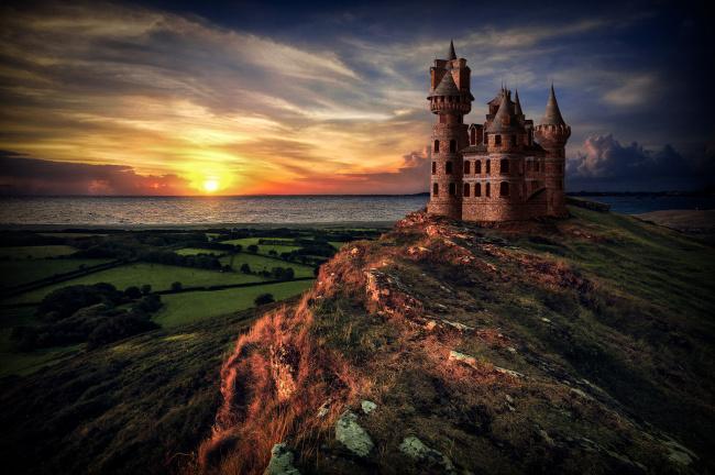 Обои картинки фото города, - дворцы,  замки,  крепости, рассвет
