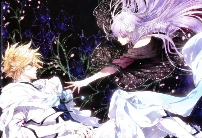 Обои картинки фото аниме, reine des fleurs, девушка, парень