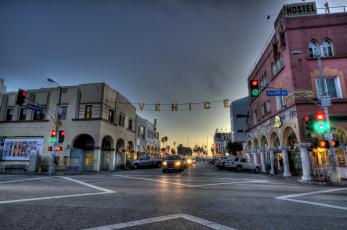 Картинка southern california города улицы площади набережные город огни ночь