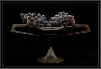 Картинка еда виноград ваза