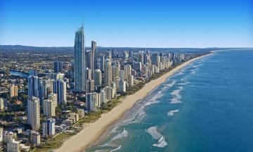 Картинка gold+coast +australia города -+панорамы море небо высотки здания
