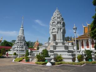 обоя города, - исторические,  архитектурные памятники, камбоджа, королевский, дворец, кантха, бопха