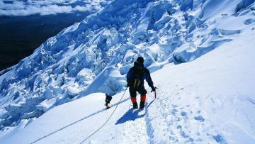 обоя спорт, экстрим, альпинисты, покорение, вершина, горы, снег