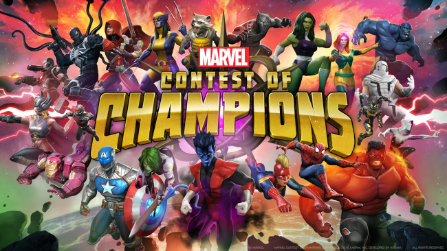 Обои картинки фото marvel,  contest of champions, видео игры, contest, of, champions, файтинг, action