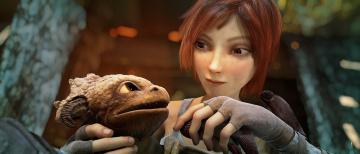 Картинка мультфильмы sintel детёныш девушка дракончик