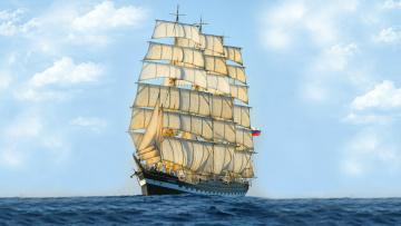 Картинка корабли парусники крузенштерн