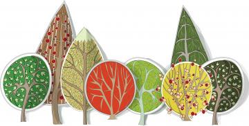 Картинка векторная+графика природа фон деревья