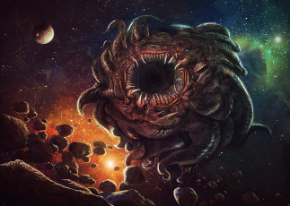 Картинка фэнтези существа вселенная лавкрафт безымянный город азатот azathoth