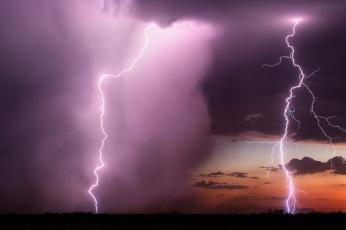 Картинка природа молния +гроза стихия облака небо гроза