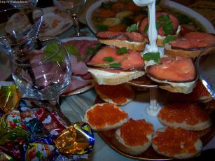 обоя праздничный, стол, еда, салаты, закуски