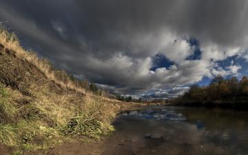 Картинка природа реки озера река небо берег