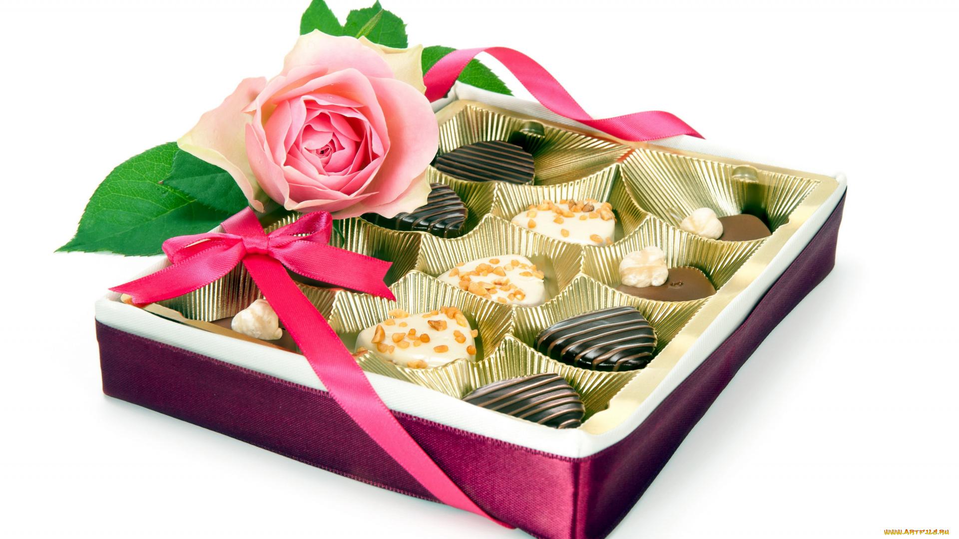 поздравления с коробкой конфет годы
