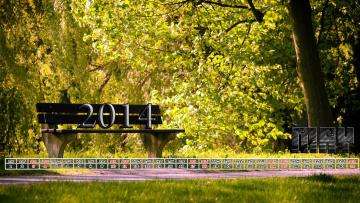 обоя календари, природа, скамейка