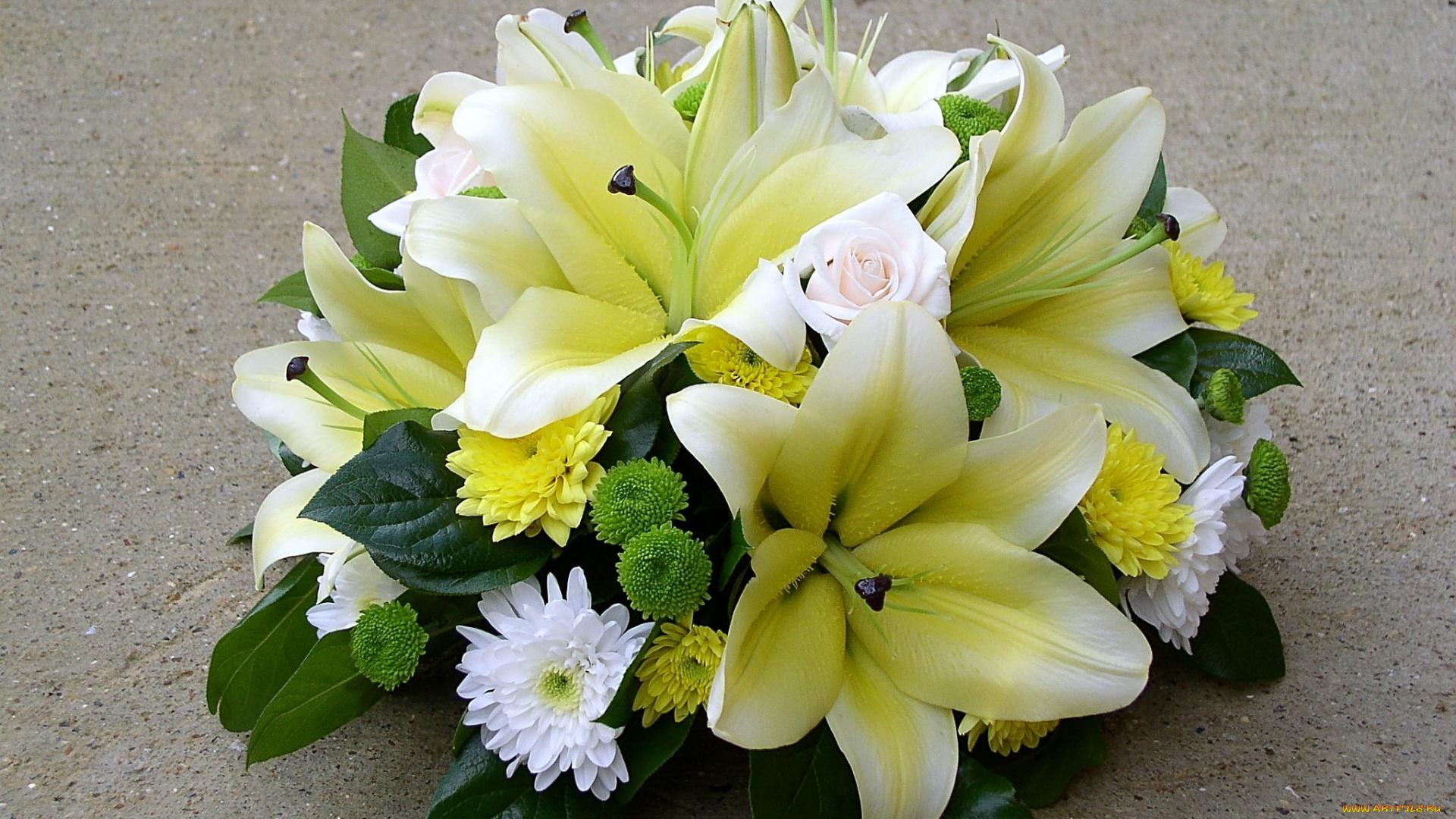 статья будет фотография красивого букета из лилий милая подруга