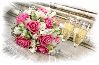 Картинка еда напитки вино розы шампанское