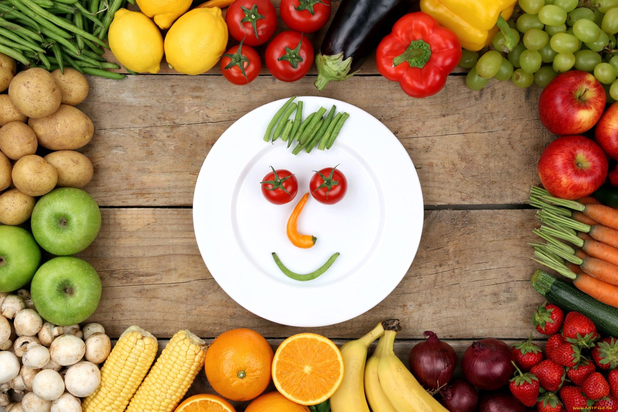 Игра в похудение с фруктами и овощами