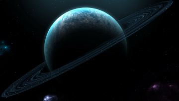 Картинка космос арт сатурн