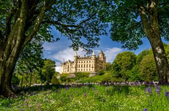 обоя dunrobin castle,  scotland, города, - дворцы,  замки,  крепости, пейзаж