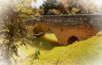 обоя франция, города, - мосты, трава, деревья, водоем