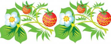 обоя векторная графика, цветы , flowers, фон, листья, цветы