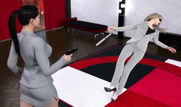 обоя spy games revenge, 0д графика, штуки , fantasy, взгляд, девушки, фон