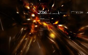 обоя 3д графика, абстракция , abstract, темная, вспышки, объекты, надписи