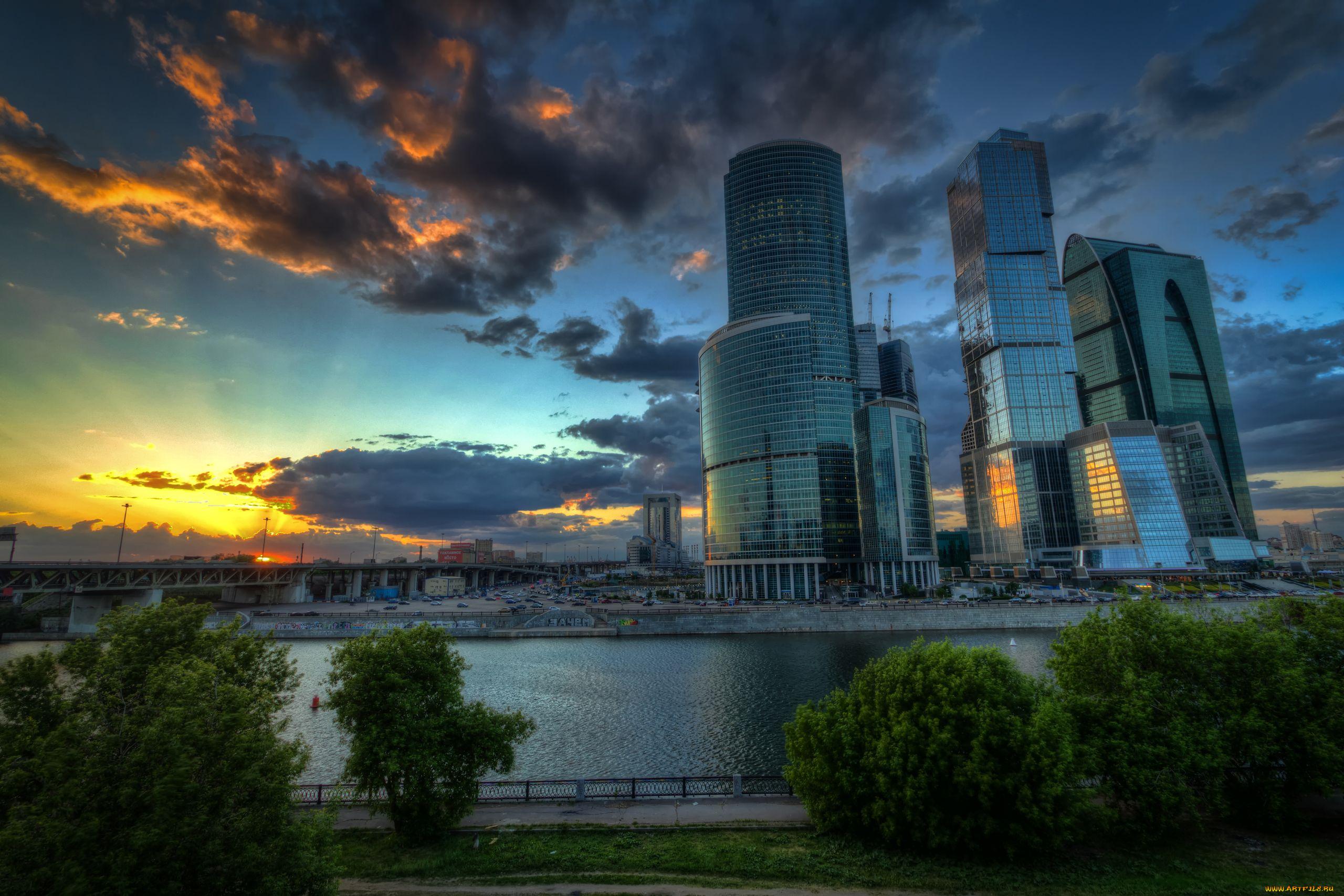 Москва сити ночь архитектура россия Башня на Набережной Город Столиц  № 3716347 бесплатно