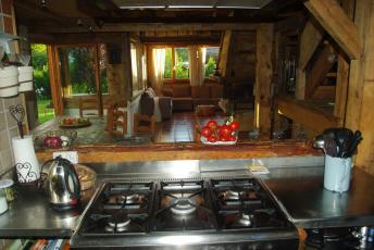 Картинка интерьер кухня еда дача плита