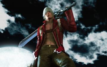 Картинка devil may cry видео игры dante`s awakening парень меч