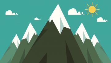 обоя векторная графика, природа , nature, горы, деревья