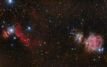 обоя космос, галактики, туманности, звезды, конская, голова