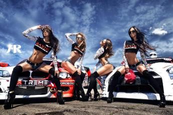 обоя автомобили, -авто с девушками, девушки, спорткар, очки