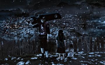 обоя аниме, naruto, shippuden, nukenin, kekkei, genkai, anbu, hakku, zabuza, momochi