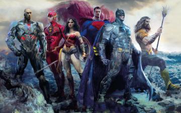 обоя рисованное, кино, justice, league