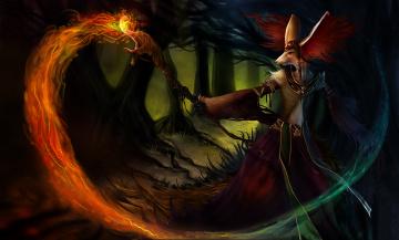 Картинка фэнтези существа деревья магия