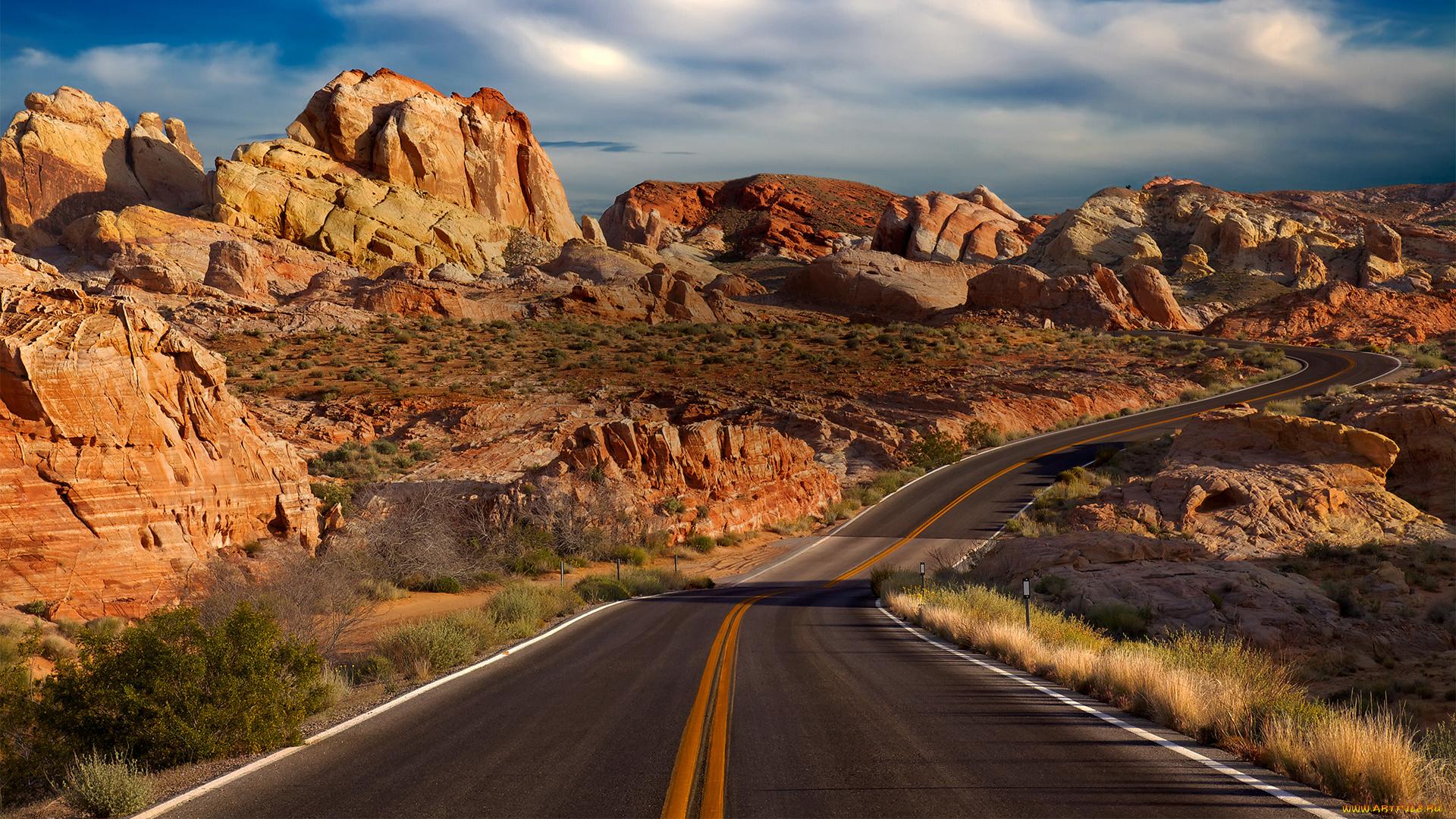 природа дорога скалы пустыня nature road rock desert скачать